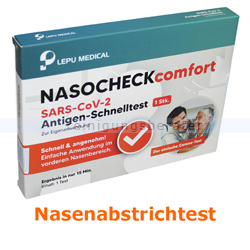 Corona Test Lepu NASOCHECKcomfort SARS-CoV-2 Schnelltest