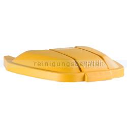 Deckel für Mülltonne Big wheel Rubbermaid gelb