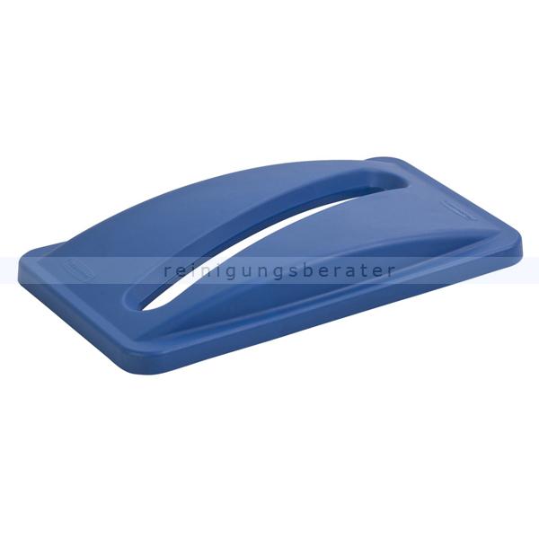Deckel für Papier Rubbermaid blau für Slim Jim 60 und 87 L Deckel mit Schlitzöffnung Rubbermaid Slim Jim 60 und 87 L 76147636
