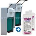 Desinfektionsmittelspender SET Meditrade Alcoman Gel 2x 0,5L