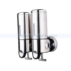 Desinfektionsmittelspender Simex Edelstahl/ABS 2x0,5 L