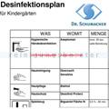Desinfektionsplan Kindertagesstätte Dr. Schumacher Produkte