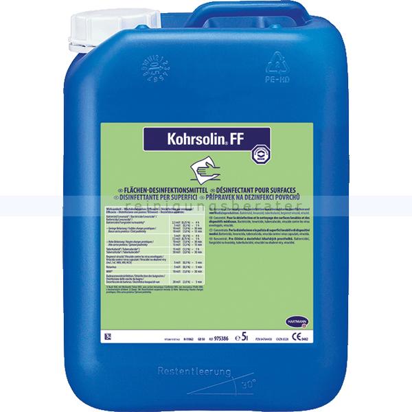 Paul Hartmann AG Bode Kohrsolin FF 5 L formaldehydfreier Desinfektionsreiniger 9804313