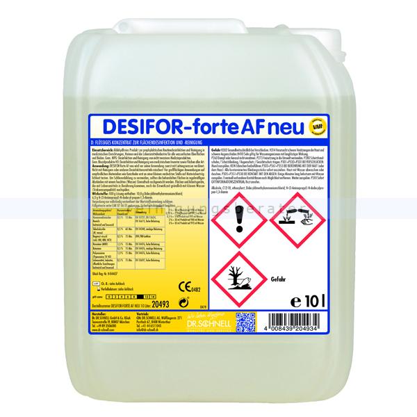Dr. Schnell Desifor forte AF neu 10 L Desinfektionsreiniger Flächendesinfektionsreiniger VAH- und IHO-gelistet 20493