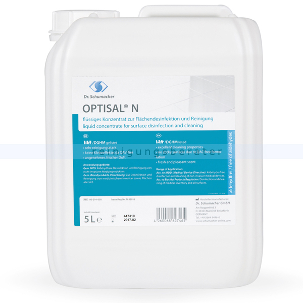 Desinfektionsreiniger Dr. Schumacher Optisal® N 5 L