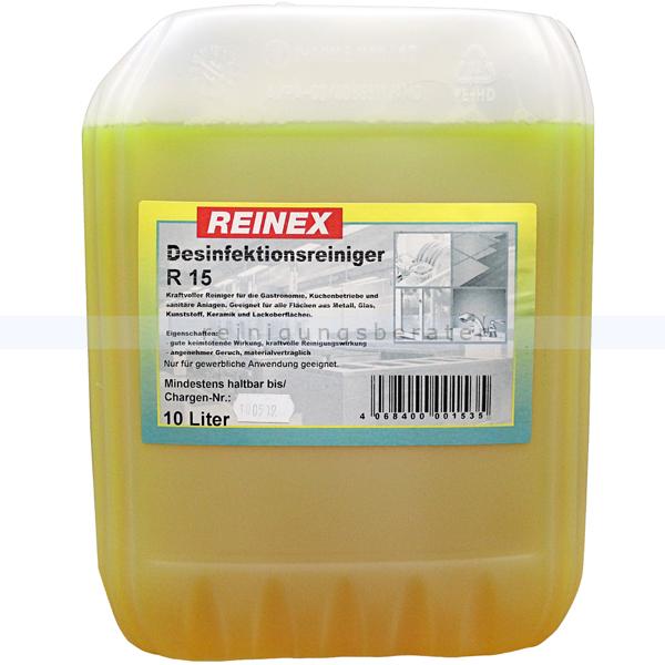 Reinex R15 10 L kraftvoller und keimtötender Desinfektionsreiniger 153