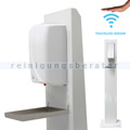 Desinfektionssäule DesiTurm Advance Stahl weiß DS3 Sensor