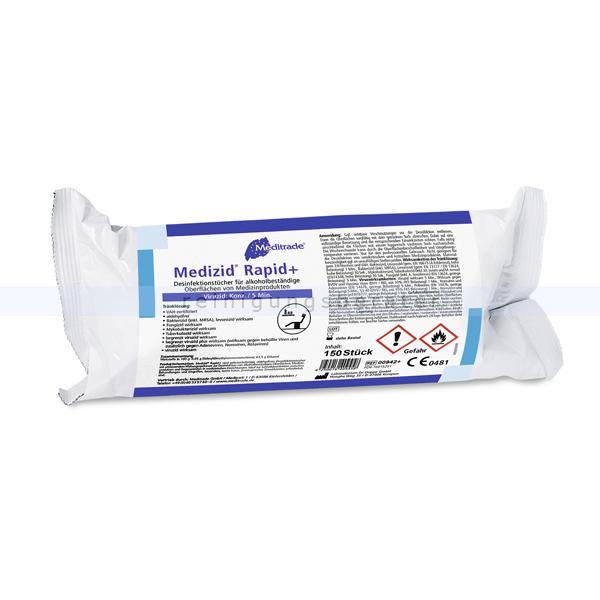 Desinfektionstücher Meditrade Medizid Rapid plus
