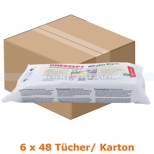Desinfektionstücher Rheosept WD PLUS WIPES 6 x 48 Tücher