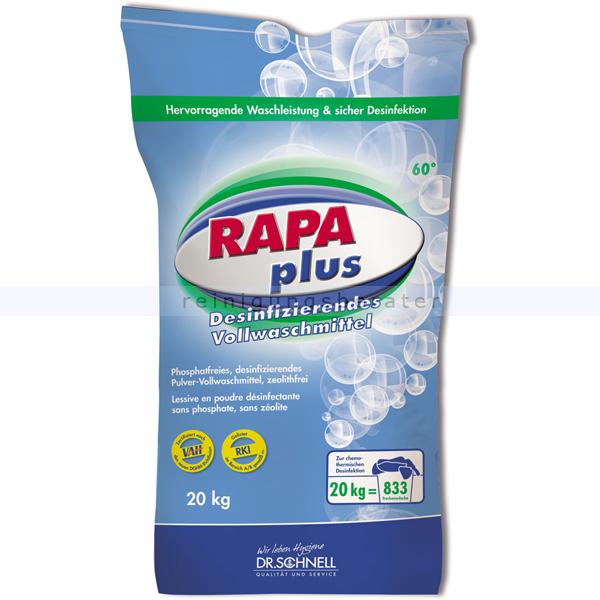Dr. Schnell RAPA Plus 20 kg Desinfektionswaschmittel desinfizierendes Pulvervollwaschmittel, zeolithfrei 60419