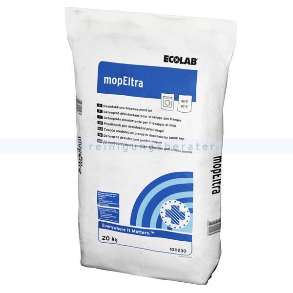 Ecolab Mop Eltra 20 kg Desinfektionswaschmittel 1011230 desinfizierendes Spezialwaschmittel für Reinigungstextilien