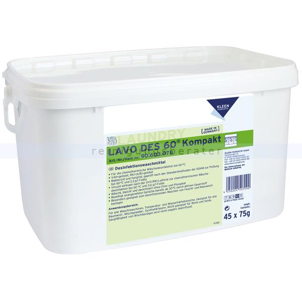 Kleen Purgatis Lavo DES 60 Kompakt 45 x 75 g 45 x 75 g praktische Dosierbeutel in wasserlöslicher Folie 90603078