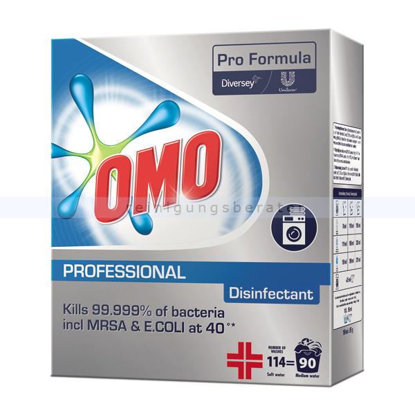 Diversey OMO Professional Disinfectant 8,55 kg Waschpulver als Vollwaschmittel und zur Wäschedesinfektion einsetzbar 101101098