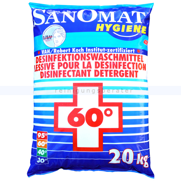 Rösch Waschmittel Sanomat 20 kg Hygiene Waschmittel, VAH zertifiziert & RKI gelistet 2161