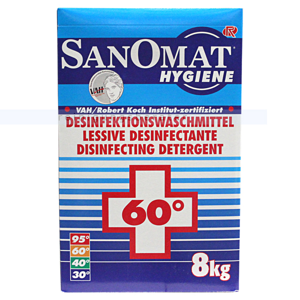 Rösch Desinfektionswaschmittel Sanomat 8 kg Hygiene Waschmittel, VAH zertifiziert & RKI gelistet 3885