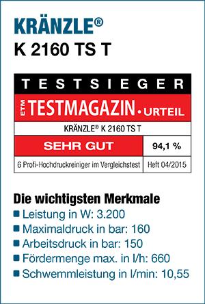 TESTSIEGER 04/2015 ETM Testmagazin