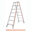 Doppelleiter Hymer 2x3 Sprossen Stufenstehleiter