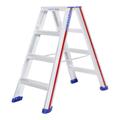 Doppelleiter Hymer 2x4 Stufen D-Holm Stufenstehleiter