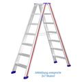 Doppelleiter Hymer D-Holm Stufenstehleiter 2x5 Stufen