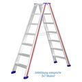 Doppelleiter Hymer D-Holm Stufenstehleiter 2x6 Stufen