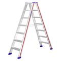 Doppelleiter Hymer D-Holm Stufenstehleiter 2x7 Stufen