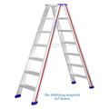 Doppelleiter Hymer D-Holm Stufenstehleiter 2x8 Stufen