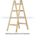 Doppelleiter Hymer Holz-Sprossenstehleiter 2x3 Sprossen