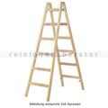 Doppelleiter Hymer Holz-Sprossenstehleiter 2x5 Sprossen