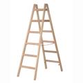 Doppelleiter Hymer Holz-Sprossenstehleiter 2x6 Sprossen