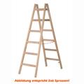 Doppelleiter Hymer Holz-Sprossenstehleiter 2x8 Sprossen