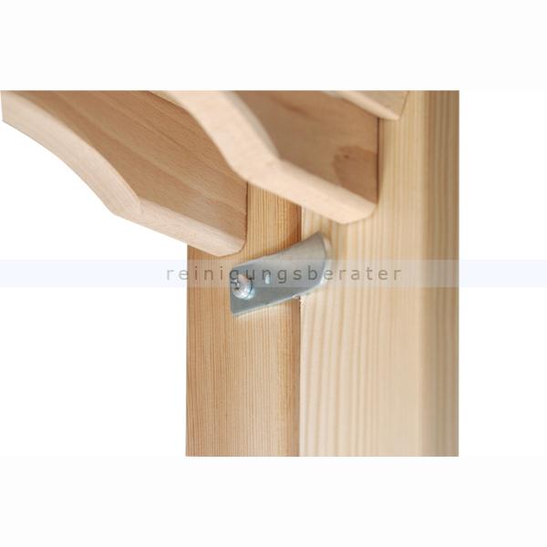 HYMER 7149016 Holz-Tiefsprossenstehleiter 2x8 Sprossen