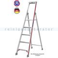Doppelleiter Hymer Stufenstehleiter mit Plattform 3 Stufen