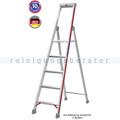 Doppelleiter Hymer Stufenstehleiter mit Plattform 6 Stufen