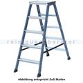 Doppelleiter Krause Monto SePro® D eloxiert 2x4 Stufen