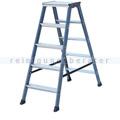 Doppelleiter Krause Monto SePro® D eloxiert 2x5 Stufen