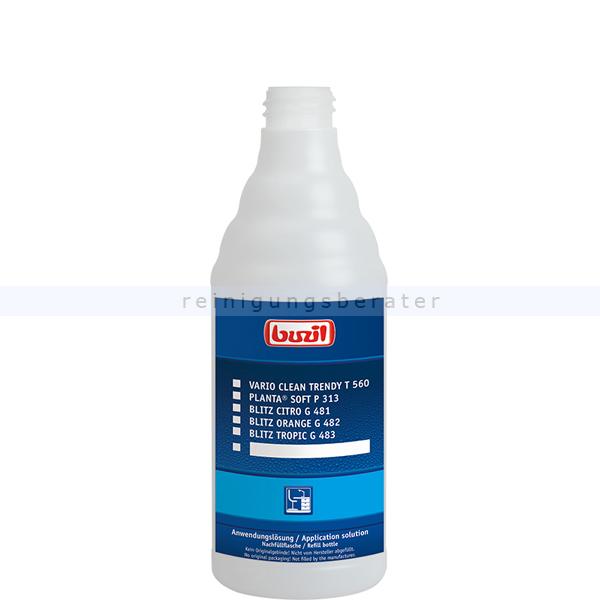 Leerflasche Buzil 600 ml Dosierflasche Oberfläche leere Dosierflasche H309-0600