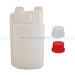 Dosierflasche Dreiturm Leerflasche 1 L inkl. 2 Verschlüsse