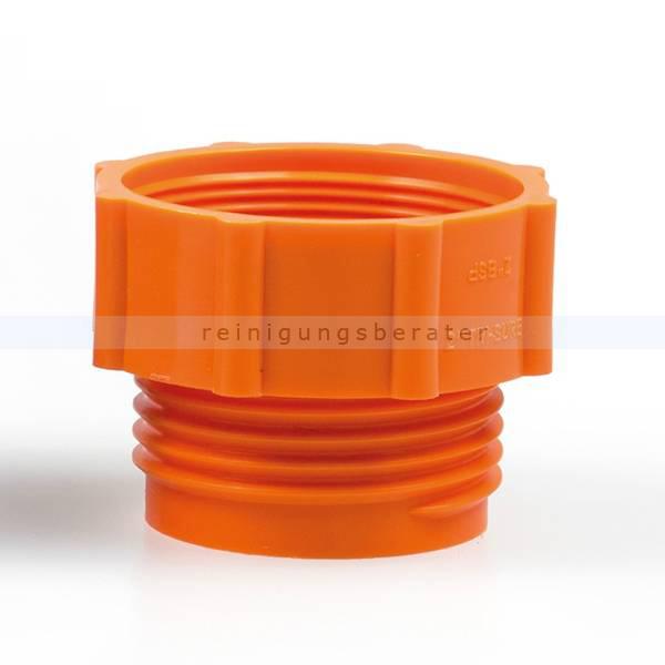 ReinigungsBerater Dosierpumpe Adapter orange für Hebepumpe 56x4/2 NPS/BSP, für 200 L Fässer 121.400.400