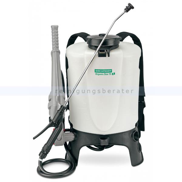 Birchmeier Organic Star 15 Rückensprühgerät Essigsäure für organische Medien, speziell für Essigsäure 11998001