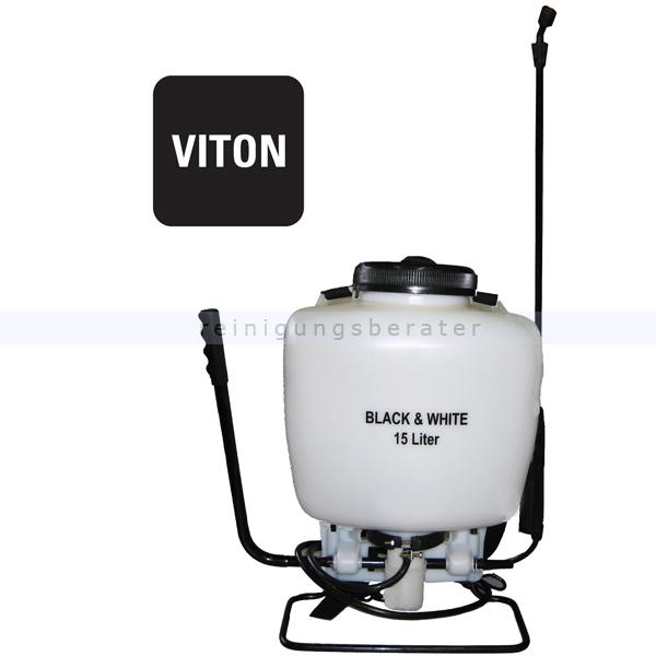 Drucksprühgerät Black & White Rückensprühgerät weiß 15 L