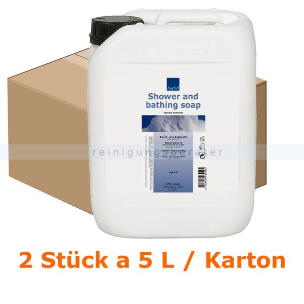Duschgel und Shampoo Abena mildes Duschbad 5 L Karton Karton mit 2 x 5 L, mildes und effektives Duschbad 6762
