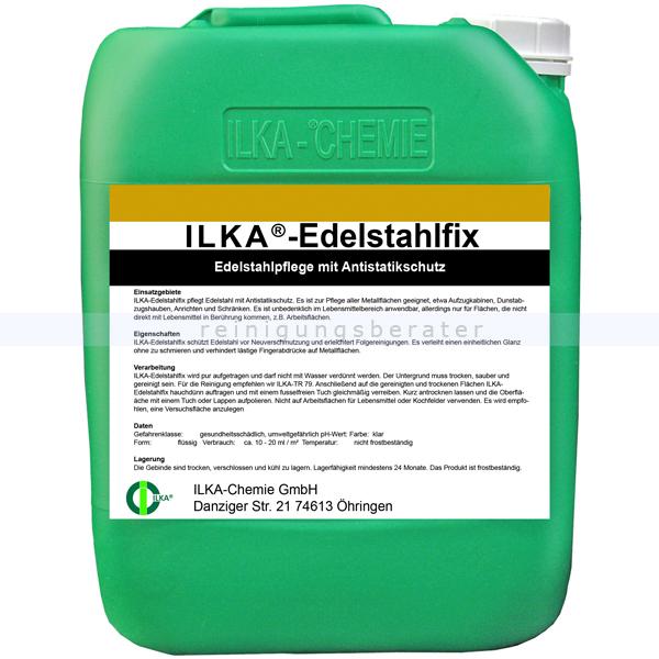 ILKA Chemie ILKA Edelstahlfix 10 Liter Kanister Edelstahlpflege mit Antistatikschutz 0712010