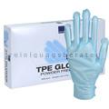 Einmalhandschuhe Abena TPE Handschuhe glatt blau L