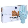 Einmalhandschuhe Abena TPE Handschuhe glatt blau XL