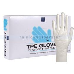 Einmalhandschuhe Abena TPE Handschuhe glatt transparent L