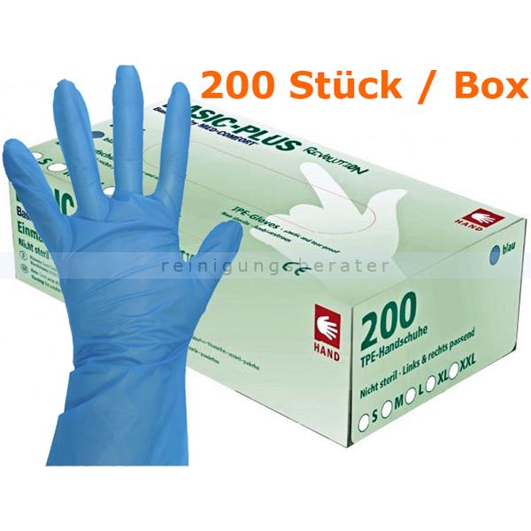 Einmalhandschuhe Ampri Basic Revolution TPE blau 200er M