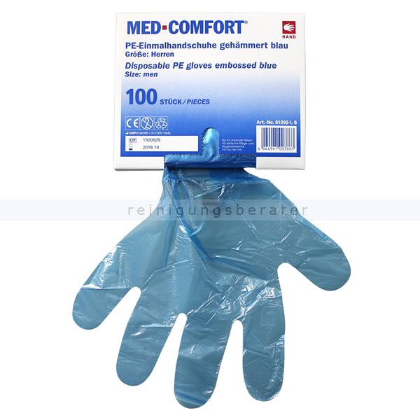 78171174f3c5d8 Einmalhandschuhe Ampri Med Comfort blau L 100 Stück