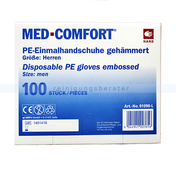 Einmalhandschuhe Ampri Med Comfort transparent L 100 Stück