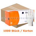Einmalhandschuhe aus Latex Abena Classic 30 cm weiß M Karton
