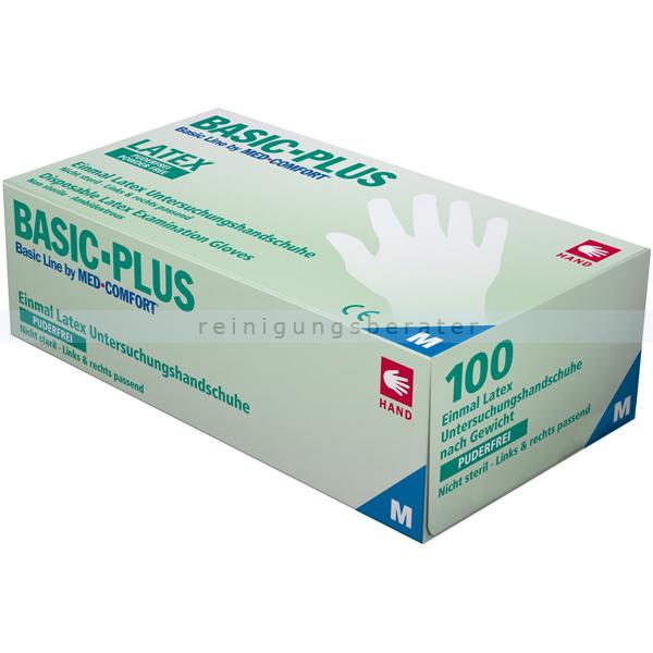 Latexhandschuhe Ampri Basic-Plus L puderfrei puderfreie Latexhandschuhe, 100 Stück/Box 01039-L